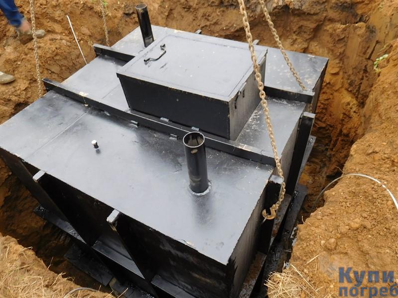 Монтаж металлического погреба