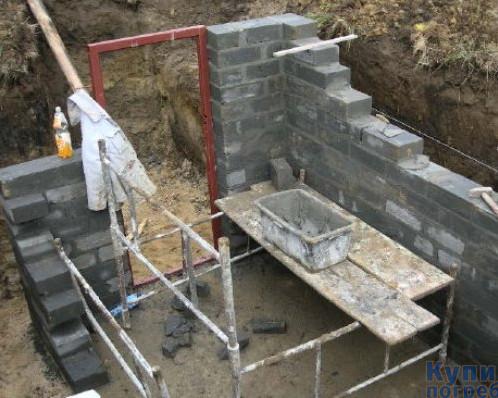 Этапы строительства винного погреба